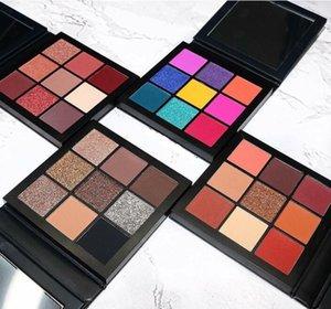 9 colors Ins style Nine colors Shiny Eye Shadow colour Earth Metallic color Portable Powder Pearl light Waterproof Sweet eyeshadow palette makeup kit Ruby topaz