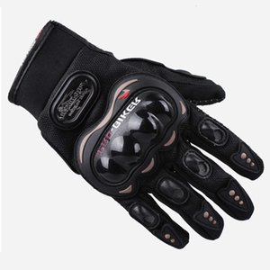 Outdoor Pro Motorcycle Full Finger Gloves Vehículo de carretera Montar Locomotora Fall Pied Half Knight