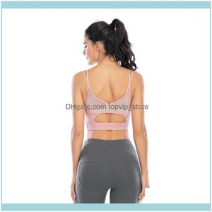 Gym Clothing Exercise Athletic Outdoor Apparel & Outdoorscross Back Hollow Out Padded Sport Push Up Net Yarn Splicing Sexy Yoga Bra Top Fitn