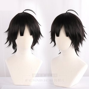 Costume AccessoriesTop Cheap Limit DEVIL GAME Time Agent Cheng Xiaoshi Cosplay Wig Styled Short Black Wig Halloween Carnival Party Anime Pro