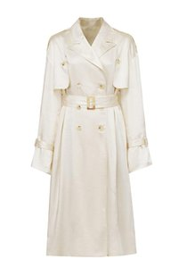 Women's Trench Coats Notched Lapel Double Breasted Coat With Belt