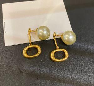 Fashion Hoop Pearl Charm Pendientes aretes orecchini para las mujeres fiesta amantes de la boda regalo joyería compromiso con la caja LZ0703