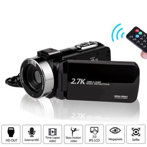 Kamera 2.7 K Ultra HD 30MP Video Kamera YouTube Live Streaming için 16x Dijital Zoom IR Gece Dokunmatik Ekran Fotoğraf Cam
