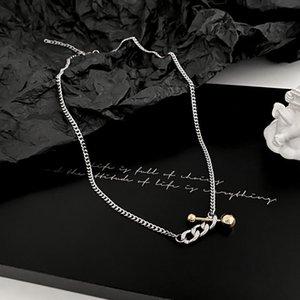 necklace Titanium steel colorless men's trendy minority design sense clavicle chain Xia hip hop versatile accessories
