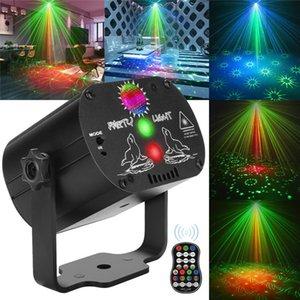 Laser de vacances disco lumières 60 motifs DJ coloré DJ LED Gadget Stage Light Light USB Rechargeable Anniversaire Laser Laser Light Light