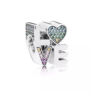 Neue 925 Sterling Silber blendend Rosa Schmetterling Herz Zirkonia Perlen Fit Original Charms Pandora Armband Perle DIY Schmuckherstellung 63 R2