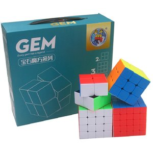Shengshou Gem Bundle 2x2x2 3x3x3 4x4x4 5x5x5 Gem Magic Cubing 4PCS Set Gift Pack Puzzle Cubo Magico sengso Toy Children Game