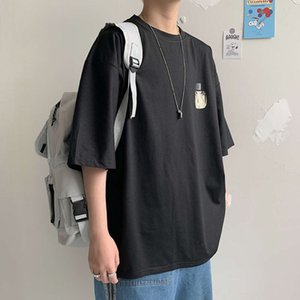 Cool Naruto print Men T-shirt Oversized comfortable Japanese Neutral style couples wear Vintage loose All-match student new tops
