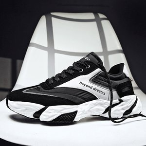 Cheap Soft bottom platform For Women Men Tripe Black White Three Color foam Mens Trainers scarpe Zapatos Chaussures 40-45