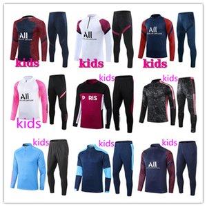 2021/22 psg kit de camiseta de fútbol para niños real madrid inter chándal de fútbol para niños 21 22 psg chándal de fútbol para niños