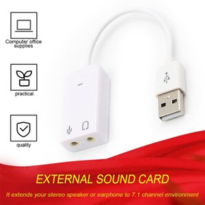 Lamp Holders & Bases External USB Sound Card 7.1 Adapter To 3D Virtual Audio Headset Microphone 3.5mm Jack For Laptop PC Notebook