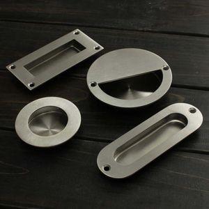 Handles & Pulls 1pc Stainless Steel Embedded Flush Drawer Cabinet Doors Cupboard Handles Screw Furniture Door Wholesale
