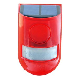 - Solar Infrared Motion Sensor Alarm With 110Db Siren Strobe Light For Home Garden Carage Shed Carvan Security Sys Systems