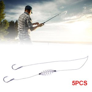Fishing Hooks 5 Pcs Set High Quality Spring Stainless Steel Double Barbed Hook Line Anzol Accessory