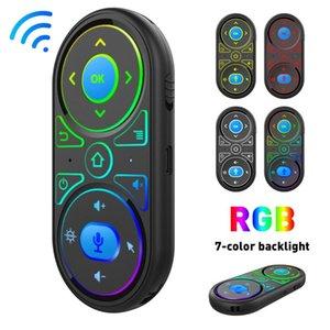 Microphone vocal de la souris Air Microphone RGB Backlit Gyro Télécommande IR Apprentissage 2.4G Mini Drop Drop Drop Drop