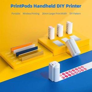Printpods Handheld Mobile Mini Portable Multi-Function Large Size Inkjet DIY Printer Wife Connection Printer#R20 Printers