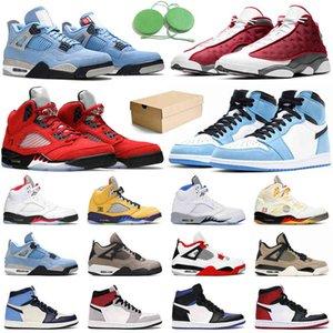 أحذية كرة السلة jumpman 1 hyper الملكي 1 ثانية الجامعة الأزرق 4 ثانية الظهر القط النار الأحمر 13 ثانية فلينت الرجال النساء حذاء رياضة أحذية رياضية في الهواء الطلق