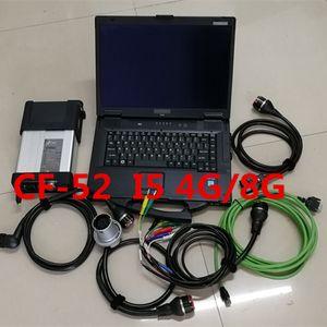 Scanner Estrela Diagnóstico Ferramenta MB C5 Unidade SD Connect Software 03/2021 SSD 360GB Laptop CF52 I5 4G / 8G Toughbook