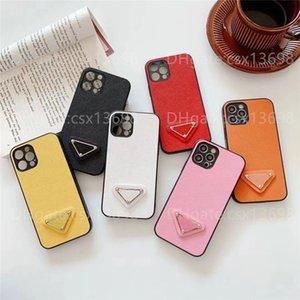 Concepteurs de mode Cas de téléphone pour iPhone 13 12 11 PRO XR XS MAX 7/8 Plus Couverture en cuir de luxe TPU + PU