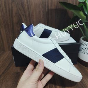 With Box Top Quality Mens Womens Shoe Bee Snake Tiger Casual Genuine Leather Shoes Embroidery Classic Trainers Python Embroidered Lover Sneakers