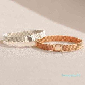 Новые 18K розовые золотые часы ремешок для часов мужчины женщин ручной цепочки рефлексии браслет набор оригинальные коробки для Pandora 925 стерлинговых серебряных браслетов