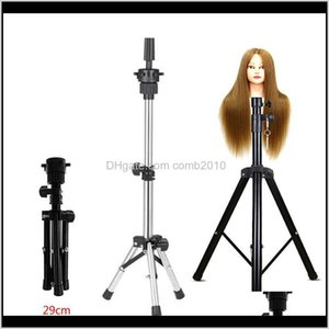 Adjustable Wig Stands Tripod Stand Hair Mannequin Training Head Holder Hairdressing Clamp Hair Wig Head Holder Salon Tools Vpolg Mjjs2