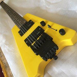 Yüksek kaliteli başsız elektrik gitar 30 inç seyahat taşınabilir 24 perdeler maun vücut kısa gitar