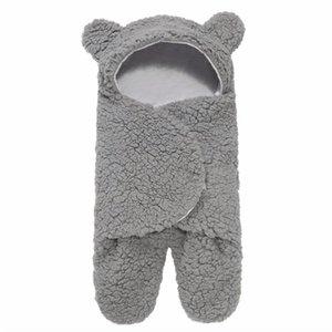Baby Plush Sleeping Bag Newborn Cute Soft Sleeping Wrap Swaddle Baby Cute Receiving Blanket Sleeping Bag Sleep Sack (0-6 Month) 1359 Y2