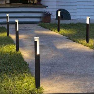 Pillar Shape LED Lawn Lamp Modern Aluminium Landscape Light Outdoor Waterproof For Garden Yard AC85-265V Lamps