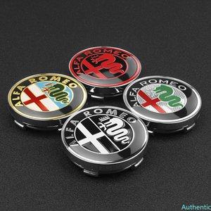 4pcs 56 60mm Wheel Center Hub Caps Car Emblem Badge Wheel Center Cap For Alfa Romeo Giulietta Spider GT Giulia Mito 147 156 159