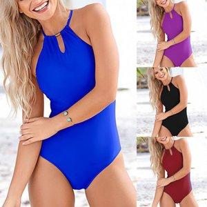 Piece One Sexy Swimsuit Solid Bikini