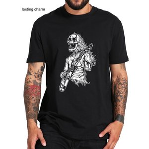 Men's Dress Shirts Vine Ro N Roll Skeleton Guitarist T-shirt Music Love Soft Basic T Tops