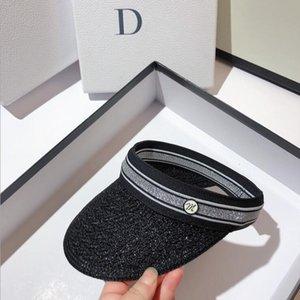 2021 Letter Empty Top Cap Casual Summer Visor Sun mens designers Hat Sports women Golf Tennis Outdoor Beach Headband Snapback Baseball Hats