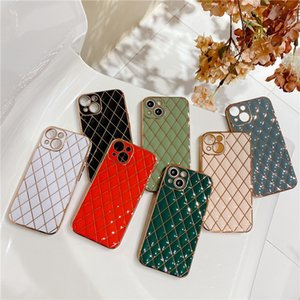 Lambskin Soft TPU Phone Cases for iPhone 13 12 11 Pro Max XR XS X 7 8 Plus 6D Electroplated Full Lens Proction