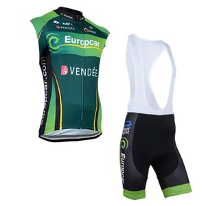 EUROPCRA Summer Breathable Mens cycling Sleevless Jersey Vest Bib Shorts Set Team Bike Outfits Bicycle Uniform Outdoor Sports Wear Ropa Ciclismo S21032913