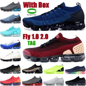 Con Scatola Fly 2.0 1.0 Uomini Donne Scarpe da corsa Gym Blue Giacca Pack Team Red Triple Black White Mens Sneakers