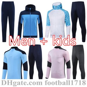 19 20 21 Homme Former Studio Suite Football Football Sweater 2021 Kun Aguero Mahrez Soccer Jacket Jogging Chandal Futbol City