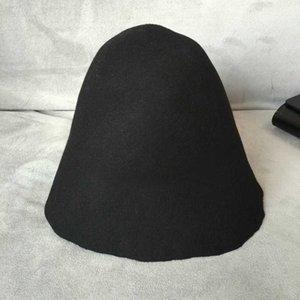 Branco preto branco rosa vinho sentiu lã cloche chapéu para mulheres de hukaili