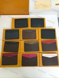 Top quality Genuine Leather Luxurys Designers wallets Fashion handbag Men free Women's Coin Card Holders Black Lambskin Mini Key Purse Pocket Interior Slot clutch