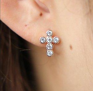Cross stud earring for women classic trendy design simple 925 sterling silver criss cross women dff1361