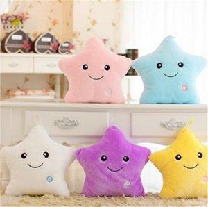LED luminous pillow five-star doll 40CM lighting gift plush toys children's favorite toy