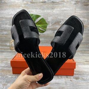 Elegant Womens Summer Sandals Classic Beach Slide Slippers Real Leather Flip Flops Sexy Heels Ladies Sandali Flat Fashion Designs Open Toe Casual Slides