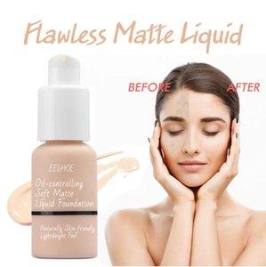 Full Coverage Foundation, Concealer Foundation Flawless New 30ml, 24HR Matte Oil Control-Concealer