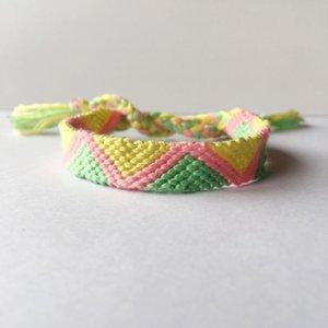 Tennis ABL145(1), 1cm Wide Handmade Boho Brazilian Multicolor String Cord Woven Braided Hippie Friendship Bracelets Girls Gift 2021