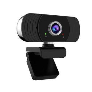 Webcams Evrensel 1080 P Kamera Dahili Kaplamalı LEN Online Eğitim Konferansı Video Canlı İçin Çift Dijital Mikrofonlarla
