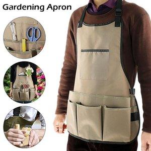 Aprons Cooking Garden Tool Apron Multi Pockets Multifunction Waterproof Barber Carpenter Painter Repairman's Clothes 25