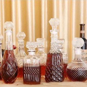Wine Glasses 900ml 1000ml High Quality Clear Glass Bottle Decanter GLA-131