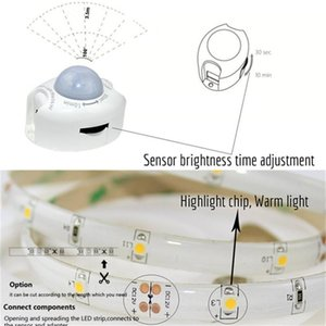 Strips Motion Sensor LED Strip Light 12V 1.2M Night Bed With Automatic Turn Off Timer Cabinet