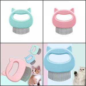 Pet Massage Brush Removal Comb Shell Shaped Handle Pet Grooming Massage Tool Remove Loose Hairs for Cats Pet Cleaning Supplies 243 N2