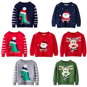 Pullover Winter Baby Girl And Boy Clothes 2-7 Year Old Children Christmas Warm Sweater Cartoon Print Knitted Top Kids Clothing